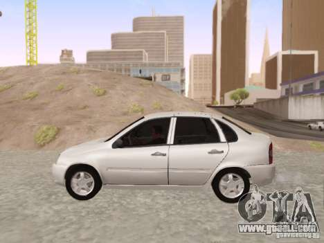 LADA Kalina sedan for GTA San Andreas left view