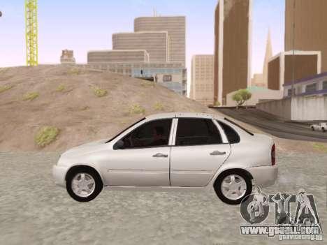 LADA Kalina sedan for GTA San Andreas left view