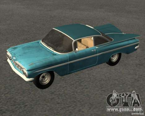 Chevrolet Impala Coupe 1959 Used for GTA San Andreas right view