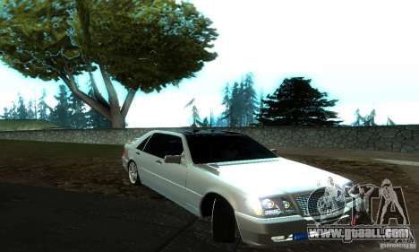 Mercedes-Benz S600 AMG for GTA San Andreas left view