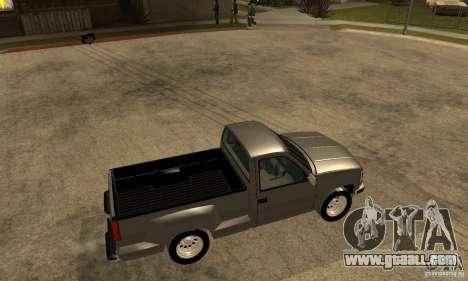 Chevrolet Silverado 1500 for GTA San Andreas back left view
