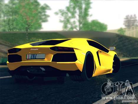Lamborghini Aventador LP700-4 2011 V1.0 for GTA San Andreas upper view