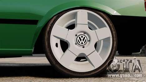 Volkswagen Gol GL 1992 Edit for GTA 4 back view