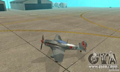 The yak-9 in livery, Sevastopol for GTA San Andreas left view