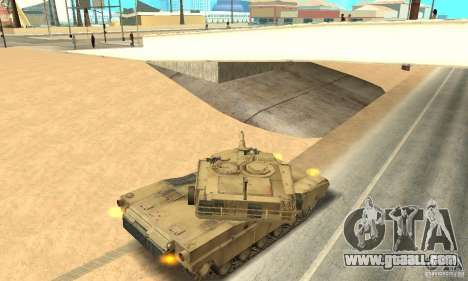 Tank M1A2 Abrams for GTA San Andreas right view