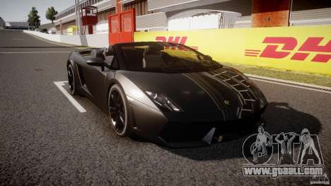 Lamborghini Gallardo LP560-4 Spyder 2009 for GTA 4 back view