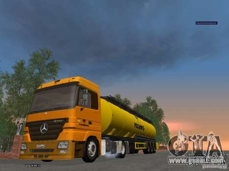 Mercedes-Benz Actros Rosneft for GTA San Andreas inner view