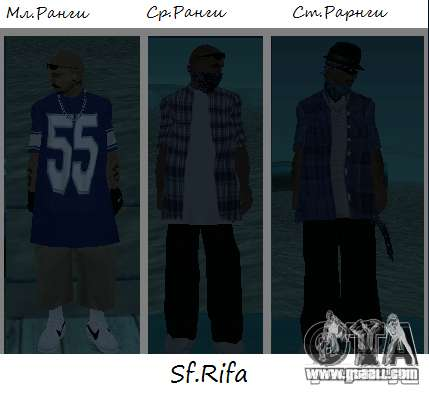 Los Surenos 13 skins for GTA San Andreas