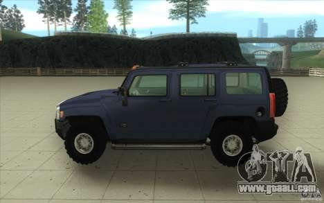 Hummer H3 for GTA San Andreas inner view