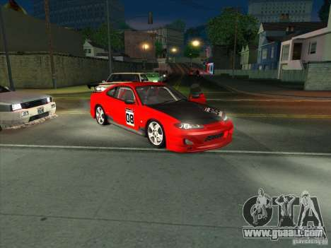 Nissan Silvia S15 Tunable KIT C1 - TOP SECRET for GTA San Andreas upper view