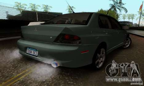 Mitsubishi Lancer Evolution 8 Tuneable for GTA San Andreas back left view
