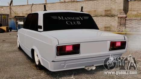 Vaz-2107 Mansory for GTA 4 back left view