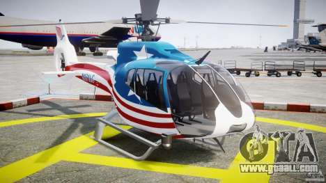 Eurocopter EC 130 B4 USA Theme for GTA 4 back view