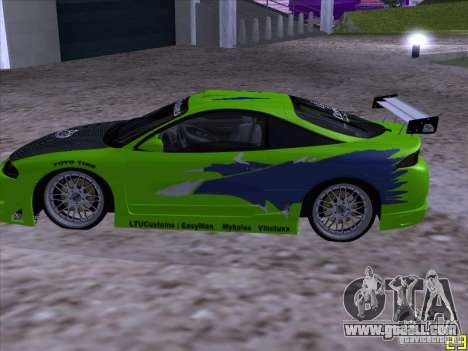 Mitsubishi Eclipse 1998 - FnF for GTA San Andreas left view