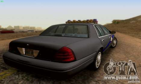 Ford Crown Victoria Kentucky Police for GTA San Andreas left view