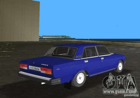 VAZ 2107 LADA car for GTA Vice City right view
