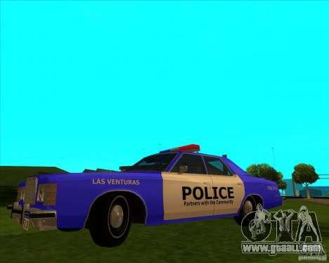 Ford Custom 500 4 door police 1975 for GTA San Andreas