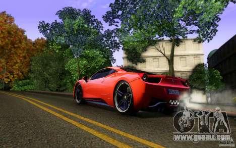 Ferrari 458 Italia Final for GTA San Andreas wheels