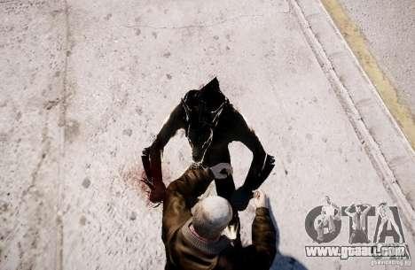 Werewolf from Skyrim for GTA 4 sixth screenshot