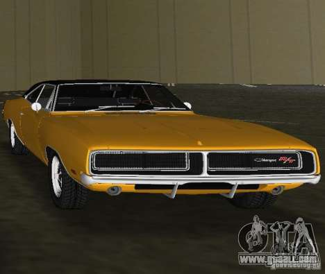 Dodge Charger RT 1969 for GTA Vice City right view