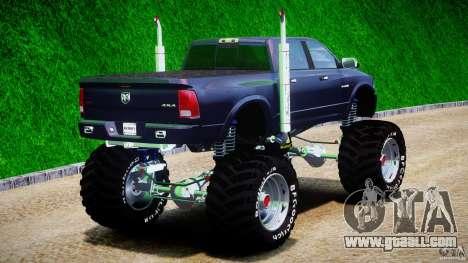 Dodge Ram 3500 2010 Monster Bigfut for GTA 4 side view