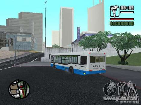 Maz 103 for GTA San Andreas back view