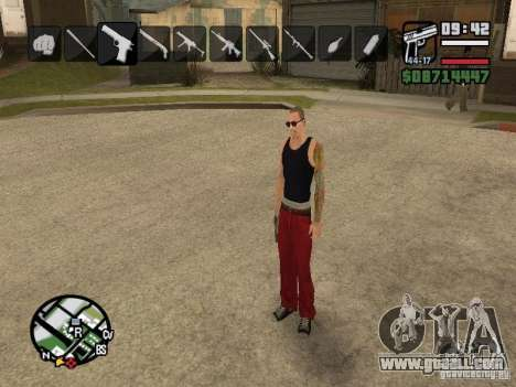 Icons when changing weapons for GTA San Andreas forth screenshot