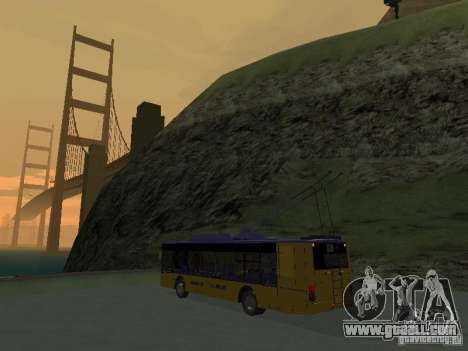 Trolleybus LAZ e-183 for GTA San Andreas back view