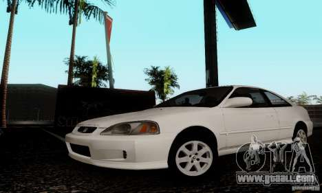 Honda Civic 1999 Si Coupe for GTA San Andreas back left view