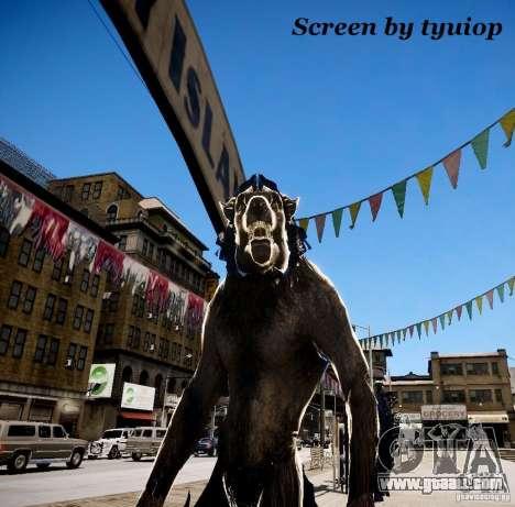 Werewolf from Skyrim for GTA 4