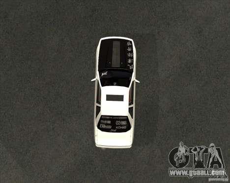 Nissan Silvia S13 streets phenomenon for GTA San Andreas right view