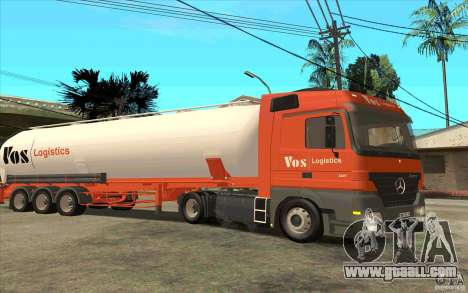 Trailer for Mercedes-Benz Actros for GTA San Andreas left view