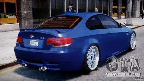 BMW M3 Hamann E92 for GTA 4 bottom view