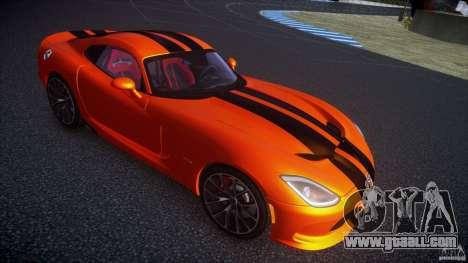Dodge Viper GTS 2013 v1.0 for GTA 4 back left view