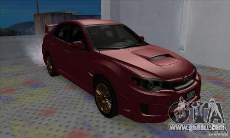 Subaru Impreza WRX STi for GTA San Andreas left view