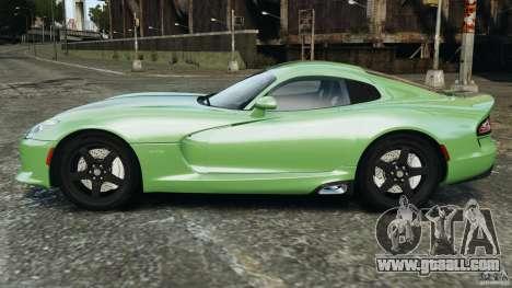 SRT Viper GTS 2013 for GTA 4 left view