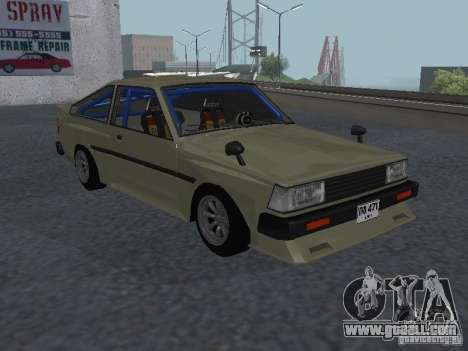 Toyota Corolla TE Coupe Tuned 1971 for GTA San Andreas back left view
