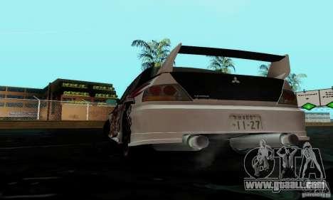 Mitsubishi Lancer Evolution IX for GTA San Andreas side view