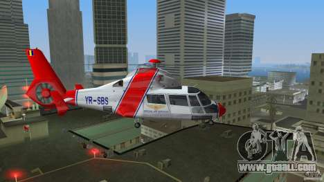 Eurocopter As-365N Dauphin II for GTA Vice City back left view