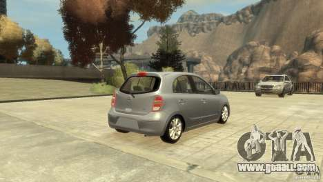 Nissan Micra for GTA 4 back view