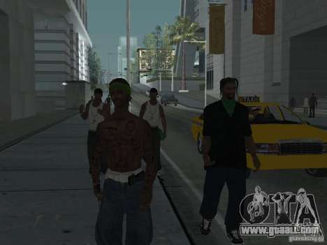 Replace all skins Grove Street Families for GTA San Andreas sixth screenshot