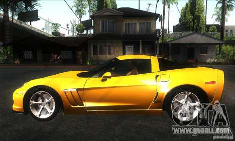 Chevrolet Corvette Grand Sport 2010 for GTA San Andreas left view