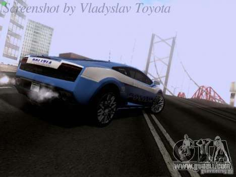 Lamborghini Gallardo LP560-4 Polizia for GTA San Andreas right view