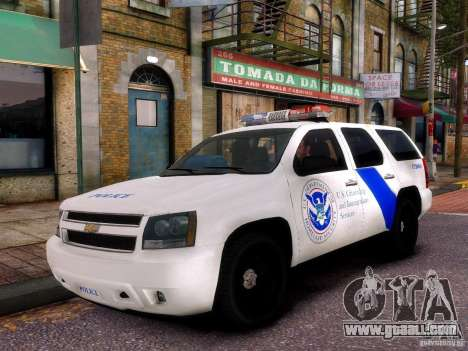 Chevrolet Tahoe New York Police for GTA 4 back view