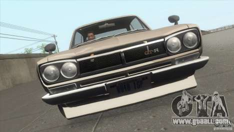 Nissan Skyline 2000 GT-R Coupe for GTA San Andreas upper view