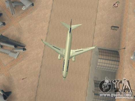 Boeing 737-800 Lufthansa for GTA San Andreas inner view