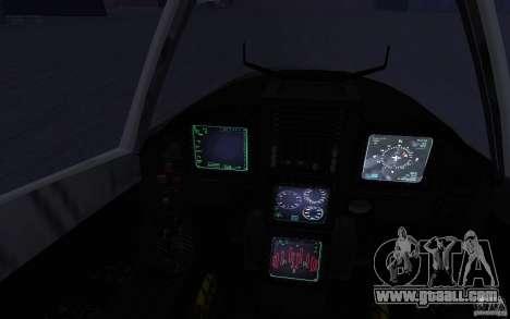 YF-23 for GTA San Andreas back view