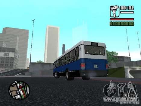 Ikarus 415.02 for GTA San Andreas inner view