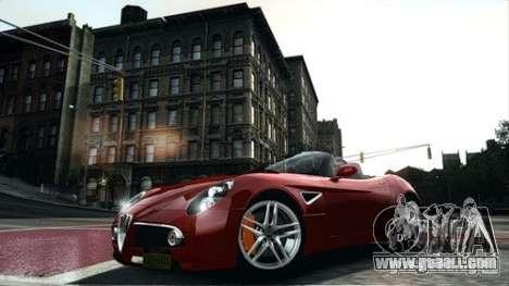 Alfa Romeo 8C Spyder for GTA 4 left view