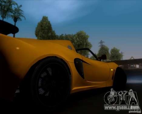 Lotus Exige for GTA San Andreas bottom view